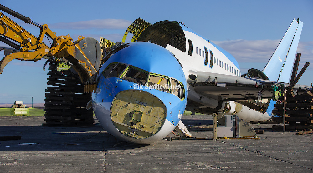 Boeing leased the plane to perform tests under its EcoDemonstrator program, which researches technologies that can improve the environmental performance of Boeing&rsquo;s jets. <br /> <br /> <br /> Mike Siegel/The Seattle Times