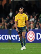 Kurtley Beale from Australia during the Tri Nations Test match between South Africa and Australia at the Kingspark Stadium in Durban on 13 Aug 2011..© Gerhard Steenkamp/Superimage