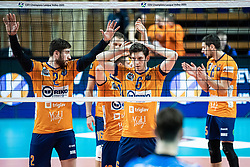 Puric Diko of ACH Volley during volleyball match between ACH Volley Ljubljana (SLO) and Kuzbas Kemerevo (RUS) n 2nd Round, group B of 2019 CEV Volleyball Champions League, on December 11, 2019 in Hala Tivoli, Ljubljana, Slovenia. Grega Valancic / Sportida