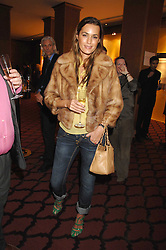 YASMIN LE BON at a party to celebrate the first year if ING's sponsorship of the Renault Formula 1 team, held at the Mayfair Hotel, Stratton Street, London W1 on 28th November 2007.<br /><br />NON EXCLUSIVE - WORLD RIGHTS