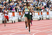 Effiong, Rosaline runs the anchor leg on the DeSoto High girls 4 x  100m relay that won the 6A race in a national record 44.24 during the UIL Track & Field Championships, Saturday, May 11, 2019, in Austin, Texas.   (Bert Richardson/Image of Sport via AP)