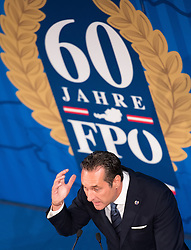 06.04.2016, Palais Ferstel, Wien, AUT, FPÖ, Festakt anlässlich 60 Jahre Freiheitlich Partei Österreich. im Bild Klubobmann FPÖ Heinz-Christian Strache // Leader of the parliamentary group FPOe Heinz Christian Strache during ceremonial act according to 60 years of the austrian freedom party in austria. Vienna, Austria on 2016/04/06. EXPA Pictures © 2016, PhotoCredit: EXPA/ Michael Gruber
