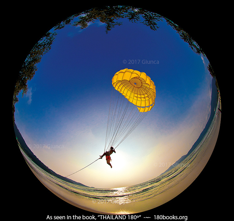 Parasailor on Patong Beach. Phuket, Thailand