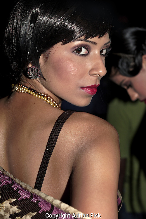 Backstage during the Satya Paul show - India fashion week, Autumn - winter collections, New Delhi, April 2006