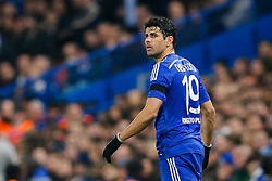 Diego Costa of Chelsea looks on - Photo mandatory by-line: Rogan Thomson/JMP - 07966 386802 - 11/03/2015 - SPORT - FOOTBALL - London, England - Stamford Bridge - Chelsea v Paris Saint-Germain - UEFA Champions League Round of 16 Second Leg.