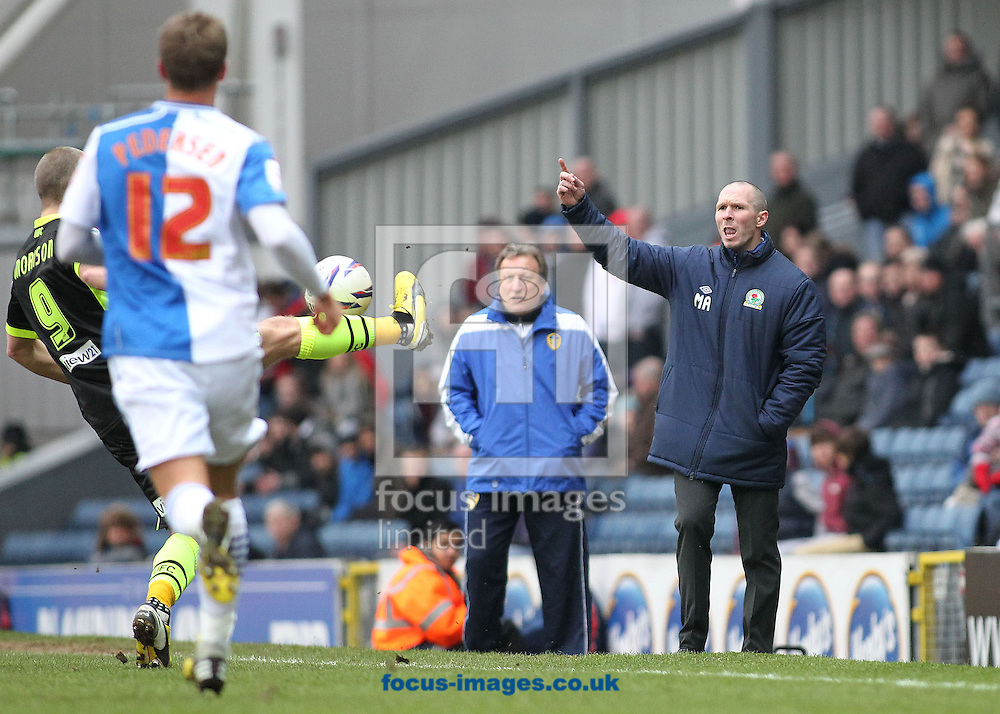 Picture by Michael Sedgwick/Focus Images Ltd +44 7900 363072.23/02/2013.Michael Appleton, manager of Blackburn Rovers shouts instructions to his players during the npower Championship match against Leeds United at Ewood Park, Blackburn.
