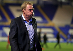 Birmingham City manager Harry Redknapp leaves the pitch after the game - Mandatory by-line: Paul Roberts/JMP - 08/08/2017 - FOOTBALL - St Andrew's Stadium - Birmingham, England - Birmingham City v Crawley Town - Carabao Cup
