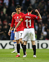 20090415: PORTO, PORTUGAL - FC Porto vs Manchester United: Champions League 2008/2009 – Quarter Finals – 2nd leg. In picture: Giggs and Cristiano Ronaldo. PHOTO: Manuel Azevedo/CITYFILES