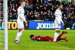 Emre Can of Liverpool shouts in frustration - Rogan/JMP - 22/01/2018 - FOOTBALL - Liberty Stadium - Swansea, Wales - Swansea City v Liverpool - Premier League.