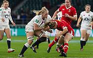 Alex Matthews in action, England Women v Canada Women in an Old Mutual Wealth Series, Autumn International match at Twickenham Stadium, London, England, on 26th November 2016. Full time score 39-6