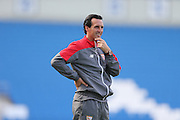Sevilla Manager Unai Emery during the Pre-Season Friendly match between Brighton and Hove Albion and Sevilla at the American Express Community Stadium, Brighton and Hove, England on 2 August 2015.