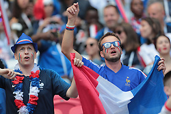 June 16, 2018 - Kazan, U.S. - KAZAN, RUSSIA - JUNE 16: Fans of France during a Group C 2018 FIFA World Cup soccer match between France and Australia on June 16, 2018, at the Kazan Arena in Kazan, Russia. (Photo by Anatoliy Medved/Icon Sportswire) (Credit Image: © Anatoliy Medved/Icon SMI via ZUMA Press)