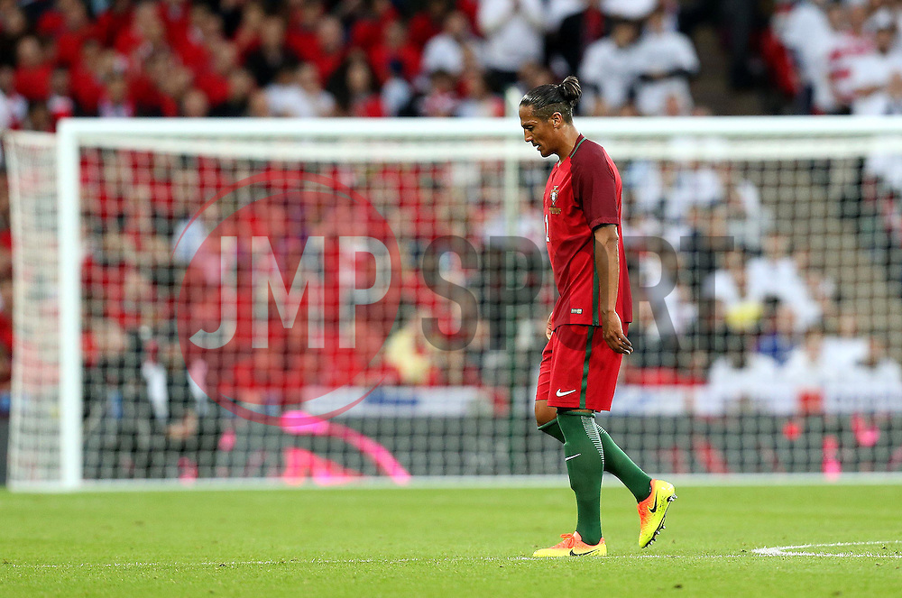 Bruno Alves walks off the pitch after being sent off - Mandatory by-line: Robbie Stephenson/JMP - 02/06/2016 - FOOTBALL - Wembley Stadium - London, United Kingdom - England v Portugal - International Friendly