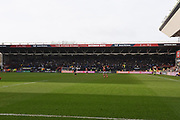 Leeds United fans during the EFL Sky Bet Championship match between Bristol City and Leeds United at Ashton Gate, Bristol, England on 9 March 2019.