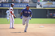 CHICAGO - AUGUST 25:  Adrian Beltre #29 of the Texas Rangers runs the bases against the Chicago White Sox on August 25, 2013 at U.S. Cellular Field in Chicago, Illinois.  The White Sox defeated the Rangers 5-2.  (Photo by Ron Vesely)   Subject:    Adrian Beltre