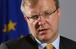 Olli Rehn, pictured here during his term as European Commissioner of Enlargement on May 30, 2005 in Brussels, Belgium. Commissioner Rehn became the EU's commissioner for economic and monetary affairs in 2010. (Photo © Jock Fistick)