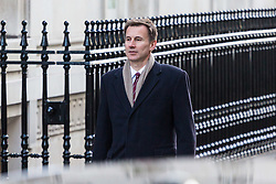 London, December 19 2017. Health Secretary Jeremy Hunt arrives at 10 Downing Street for the last cabinet meeting before the Christmas break. © Paul Davey