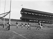 F Euers scores for Galway catching Kerry defence off guard during the All Ireland Senior Gaelic Football Championship Final, Kerry vs Galway in Croke Park on the 27th September 1959. Kerry 3-7 Galway 1-4.