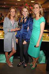 Left to right, LADY ALEXANDRA ELLETSON, LADY CONSTANCE MARQUIS and her mothe the HON.MRS (Sophie) MONTGOMERY at an evening of private shopping in aid of Elizabeth Fitzroy Support at Tiffany & Co, 145 Sloane Street, London on 14th May 2008.<br />