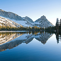 I was racing to the second of Young Lakes to photograph the Rugged Peak found in the Yosemite's wilderness