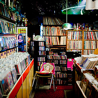 ORLANDO, FL -- Thousands of records, CDs, and memorabilia fill every inch of the widely known Rock -n- Roll Heaven in Orlando, Florida.  (PHOTO / Chip Litherland)