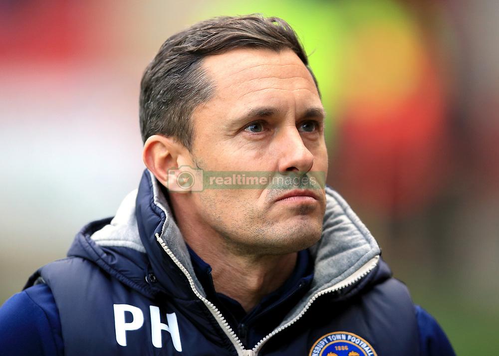 Shrewsbury Town Manager Paul Hurst