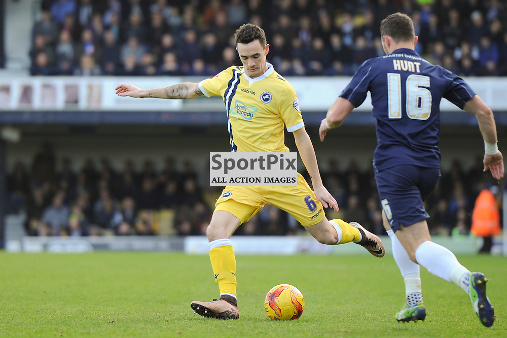 Millwalls Shaun Williams in action during the Southend v Millwall game in the Sky Bet League 1 on the 28th December 2015.