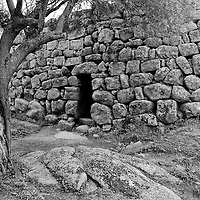 Nuraghe stone structure, Sardinia, Italy.
