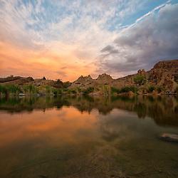 Ayer Lake at sunset, Boyce Thompson Arboretum