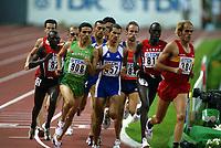 Athletics, 26. august 2003, VM Paris, World Championship in Athletics,  Hicham El Guerrouj, Marokko, Mehdi Baala, (457) Frankrike, Isaac Songok (820), kenya, Paul Korir, Kenya (813) 1500 metres