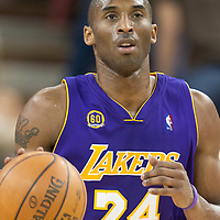 SACRAMENTO, CA - APRIL 06: Kobe Bryant #24 of the Los Angeles Lakers brings the ball up court during a game at the Arco Arena on April 4, 2008 in Sacramento, CA. NOTE TO USER: User expressly acknowledges and agrees that, by downloading and or using this photograph, User is consenting to the terms and conditions of the Getty Images License Agreement. Mandatory Credit: 2008 NBAE (Photo by Chris Elise/NBAE via Getty Images)