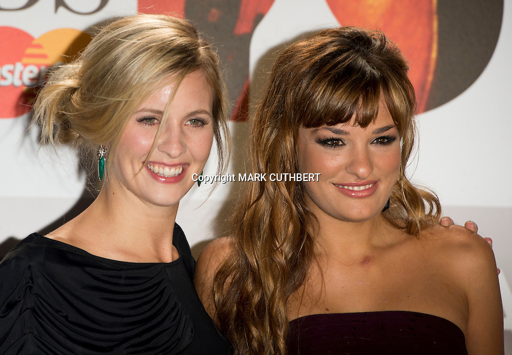 Nicola Benedetti and Alison Balsom arriving at the 2012 Classic Brit Awards at the Royal Albert Hall in London.