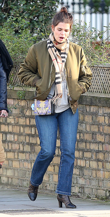 (EXCLUSIVE PICTURES) Model Daisy Lowe, Thomas Cohen, Astala Cohen Geldof, Pixie Geldof and boyfriend George Barrett out shopping for Vintage clothes in Camden Town, London, UK. 16/02/2016<br /> BYLINE MUST READ : JAMESY/GOTCHA IMAGES<br /> <br /> Copyright by &copy; Gotcha Images Ltd. All rights reserved.<br /> Usage of this image is conditional upon the acceptance <br /> of Gotcha Images Ltd, terms and conditions available at<br /> www.gotchaimages.com