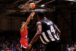 Justin Gray of Bristol Flyers scores a 3 pointer - Photo mandatory by-line: Robbie Stephenson/JMP - 01/03/2019 - BASKETBALL - Eagles Community Arena - Newcastle upon Tyne, England - Newcastle Eagles v Bristol Flyers - British Basketball League Championship
