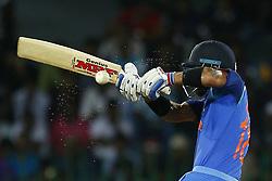 September 3, 2017 - Colombo, Sri Lanka - Indian cricket captain Virat Kohli plays a shot during the 5th and final One Day International cricket match between Sri Lanka and India at the R Premadasa international cricket stadium at Colombo, Sri Lanka on Sunday 3 September 2017. (Credit Image: © Tharaka Basnayaka/NurPhoto via ZUMA Press)
