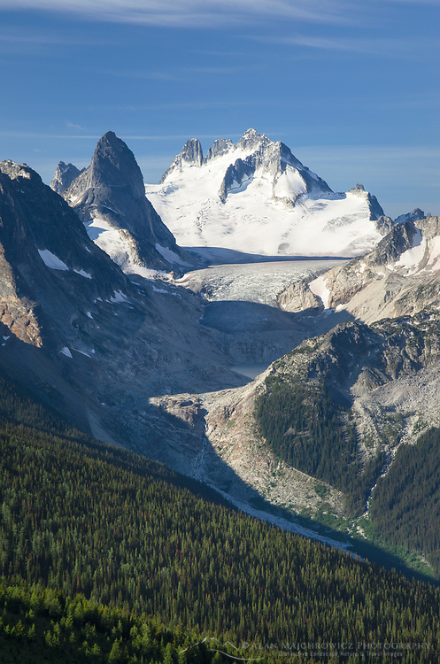 Howser Towers, Vowell Glacier. Bugaboo Provincial Park Purcell Mountains British Columbia.
