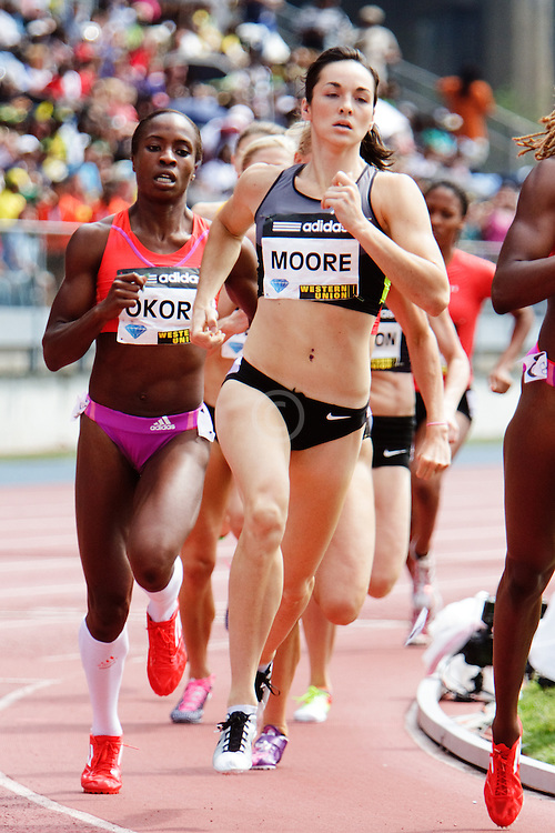 Samsung Diamond League adidas Grand Prix track & field; women's 800 meters, Erica Moore, USA,