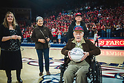 Gordon Van Scotter honored at the men's basketball game Nov. 10. (GU photo by Gavin Doremus)