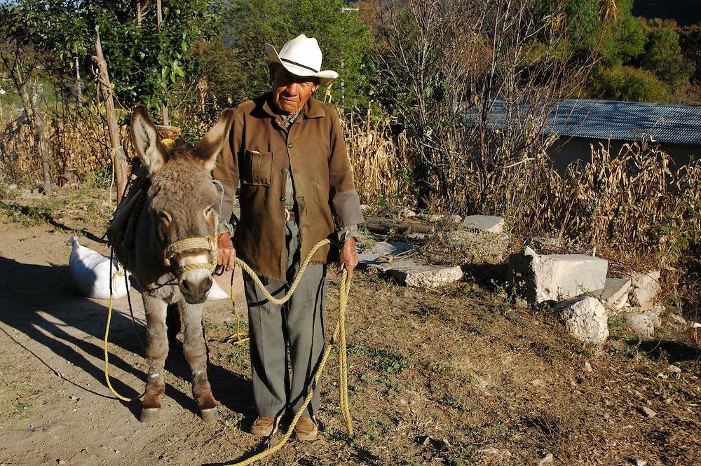 """A man and his burro, in Santiago Apoala""."