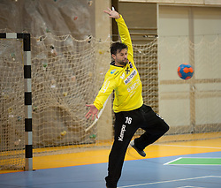 09.12.2014, Sporthalle, Leoben, AUT, OeHB-Cup Achtelfinale, Union JURI Leoben vs SG INSIGNIS Handball West Wien, im Bild Wolfgang Filzwieser (Leoben) // durning the OeHB-Cup, Round of the last sixteen, between, Union JURI Leoben vs SG INSIGNIS Handball West Wien at the Sport Hall, Leoben, Austria on 2014/12/09, EXPA Pictures © 2014, PhotoCredit: EXPA/ Dominik Angerer
