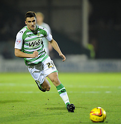 Yeovil Town's Adam Morgan - Photo mandatory by-line: Joe Meredith/JMP - Tel: Mobile: 07966 386802 03/12/2013 - SPORT - Football - Yeovil - Huish Park - Yeovil Town v Blackpool - Sky Bet Championship