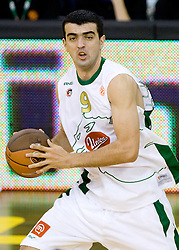 Edin Bavcic (9) of Olimpija at Euroleague basketball match of Group C between KK Union Olimpija, Ljubljana and Maroussi B.C., Athens, on October 29, 2009, in Arena Tivoli, Ljubljana, Slovenia. Olimpija lost 75:81.  (Photo by Vid Ponikvar / Sportida)