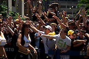 June 18, 2011, Boston, MA - Fan cheer as the Burins dancers pass by. Photo by Lathan Goumas.