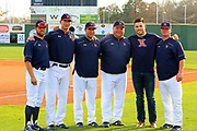 The West Monroe Rebels opened their 2018 season hosting the Ouachita Christian Eagles at Shelby Aulds Memorial Field in West Monroe, La. The Eagles won, 6-2.  c.2018 TomMorrisPhotos.com. All Rights Reserved. For editorial use only. No personal downloads allowed. Private use can be purchased. (318.237.3030)