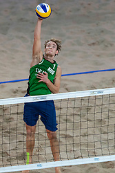 06-01-2019 NED: Dela Beach Open, Den Haag<br /> Netherlands lost the bronze medal from Russia 1-2 / Ilya Leshukov #1 RUS