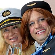 NLD/Amsterdam/20110806 - Canalpride Gaypride 2011, Mary Borsato en Carlo Boszhard