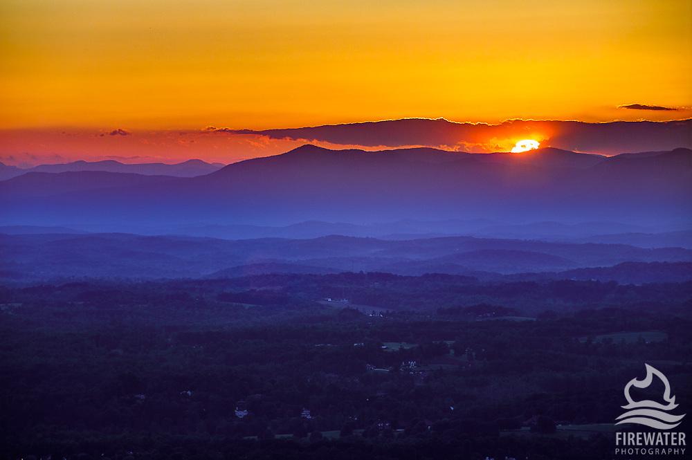 Greenville Sunset from Altamont/Paris Mountain Area - Greenville, SC