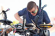 Robert DeLong performs during Edgefest 2015 at Toyota Stadium on April 25, 2015 in Dallas, Texas.