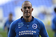 Brighton and Hove Albion striker Bobby Zamora during training before the Sky Bet Championship match between Reading and Brighton and Hove Albion at the Madejski Stadium, Reading, England on 31 October 2015. Photo by Mark Davies.