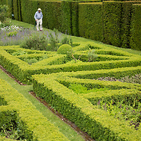Helmingham Hall gardens in Suffolk England